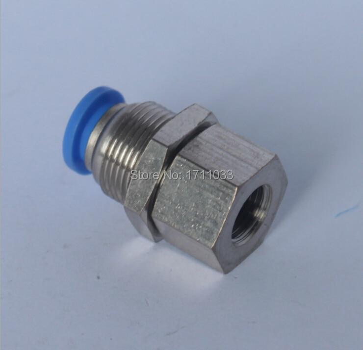 tube 6mm-1/8 BSPT thread bulkhead pneumatic connector
