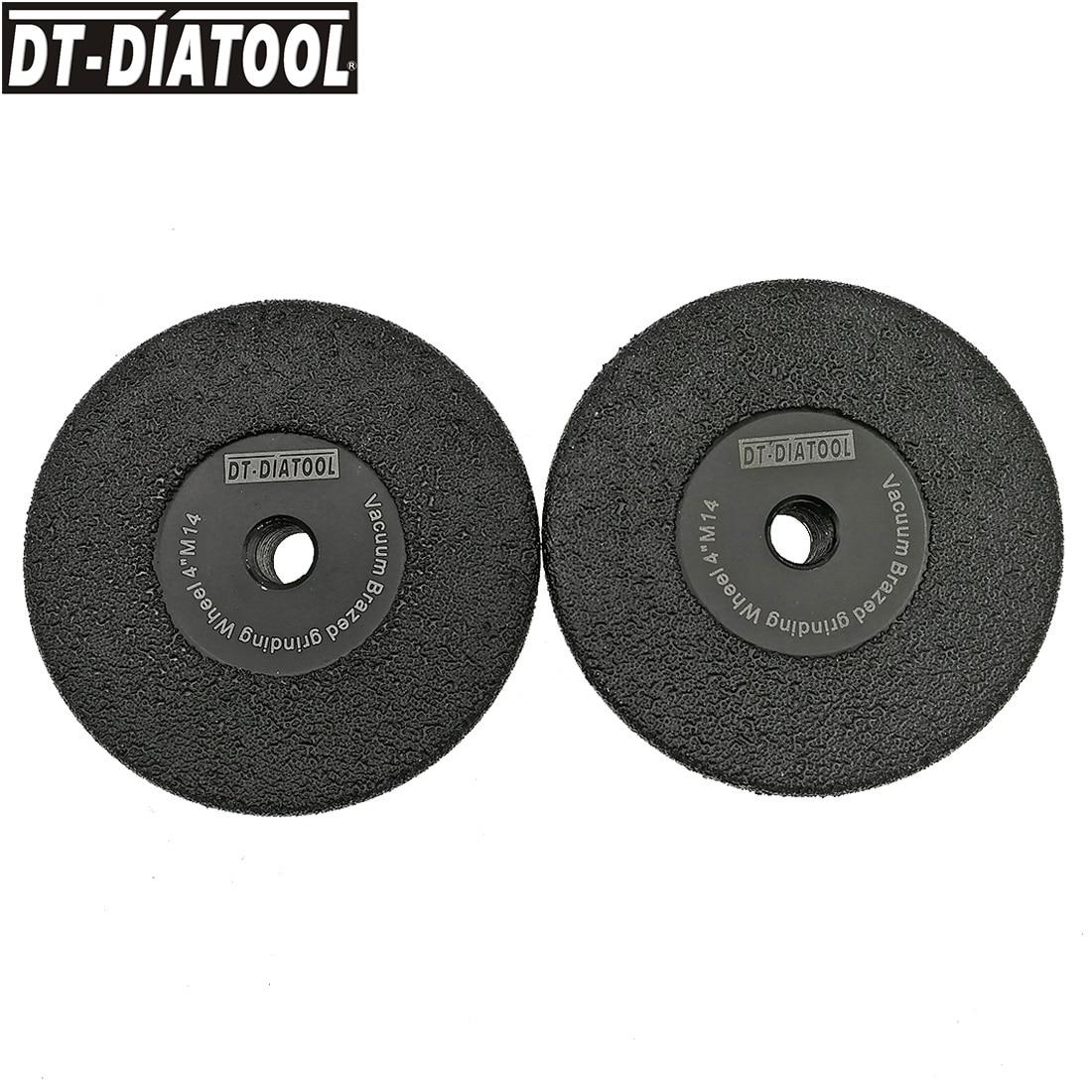 DT-DIATOOL 2 قطعة فريك #30 فراغ صنع من النحاس الماس شقة طحن عجلة M14 موضوع تشكيل القرص ضياء 4