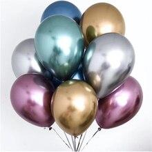"Neue Glänzend Metall Perle Latex Ballons 10 ""Starke Chrome Metallic Farben Aufblasbaren Ballons Globos Metalicos Partei Liefert"
