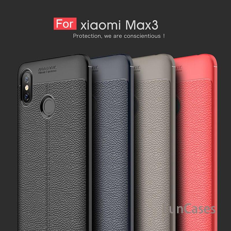 Funda para Xiaomi Mi Max 3, carcasa trasera de silicona suave de fibra de carbono para Xiaomi Mi Max 3, funda protectora de piel para Xiaomi Mi Max 3