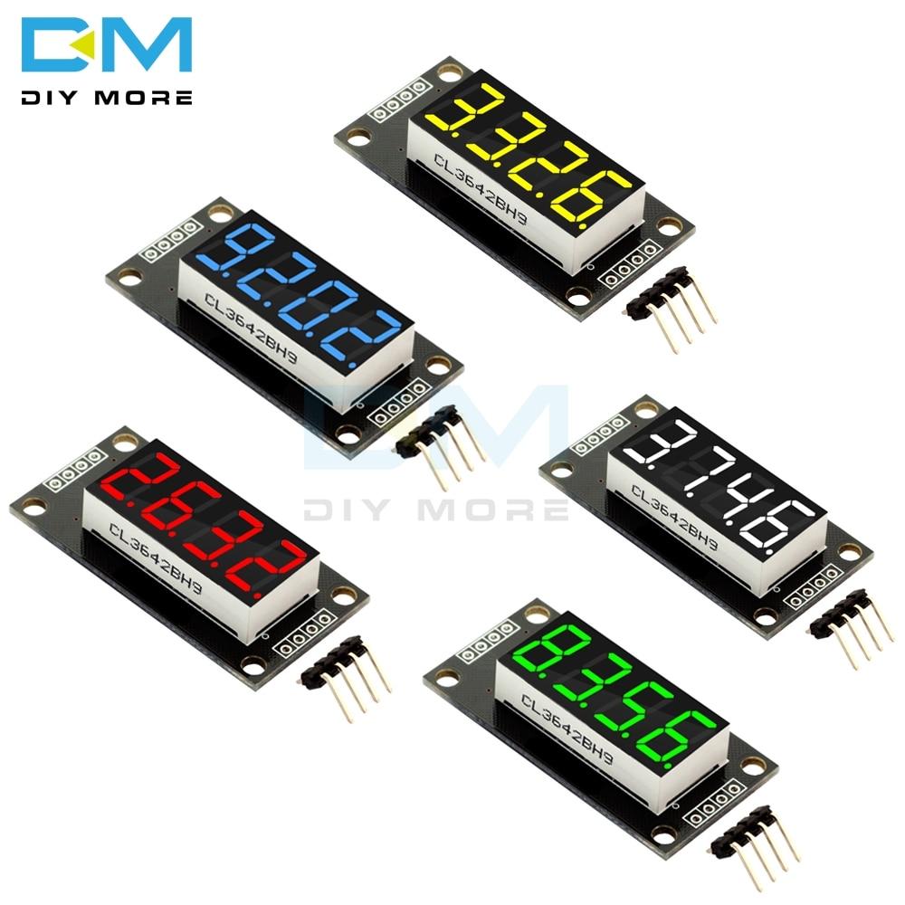 "TM1637 0.36"" 0.36 Inch 7 Segments Digital Display Tube 4-Digit LED  Module Board For Arduino Red Green Blue Yellow White"