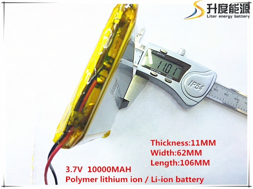 3.7 V, 10000 mAH, [1162106] PLIB (bateria de iões de lítio polímero) bateria Li-ion para tablet pc, GPS, mp3, mp4, telefone celular, telefone celular speaker