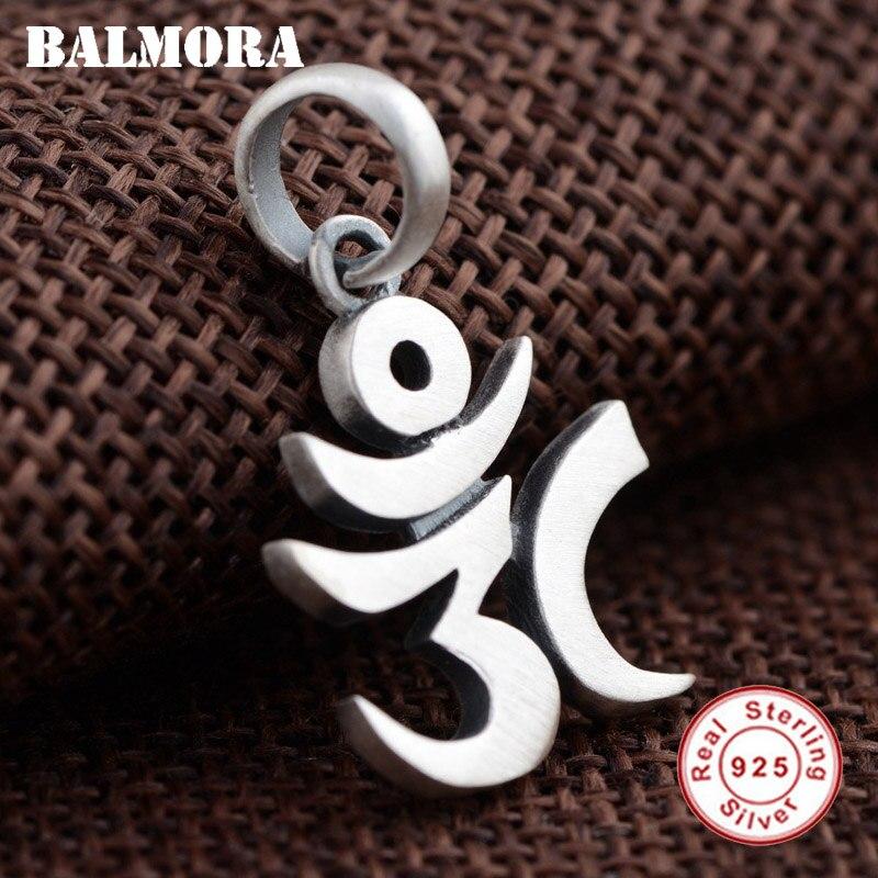 Женские и мужские Подвески BALMORA, из 100% серебра 925 пробы, в стиле ретро, с шестью буквами