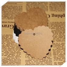 Kraft Paper Blank Heart Shape Gift Tag Retro Hang tag