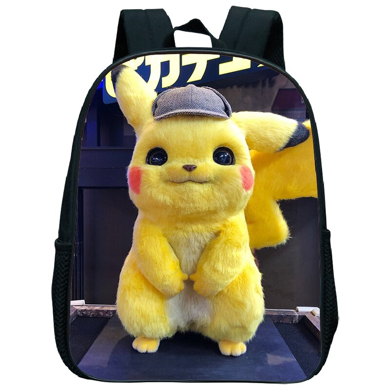 ¡Novedad de 2019! mochila escolar para niños y niñas de Pokemon Detective Pikachu, mochila con dibujos animados, juguetes de guardería, regalos, mochilas escolares