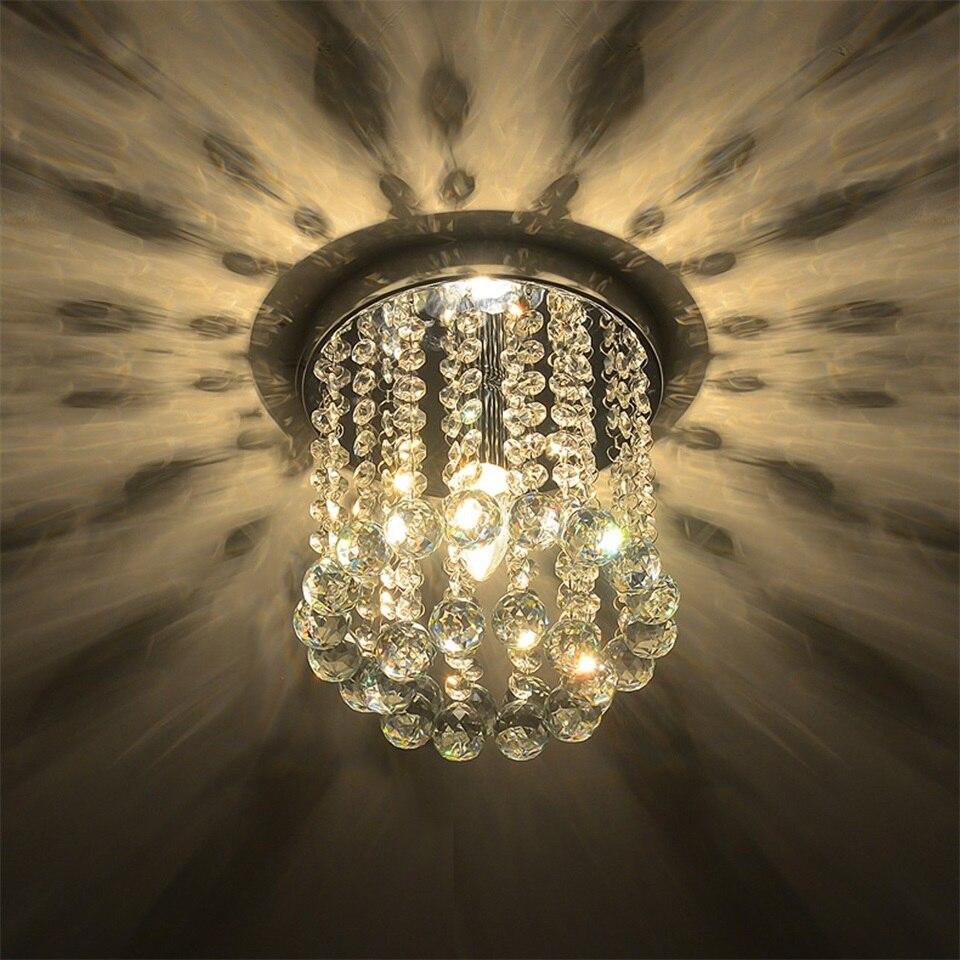 Хрустальные современные светодиодные потолочные светильники Luminaria, роскошные потолочные светильники для гостиной, фойе, домашние декорати...