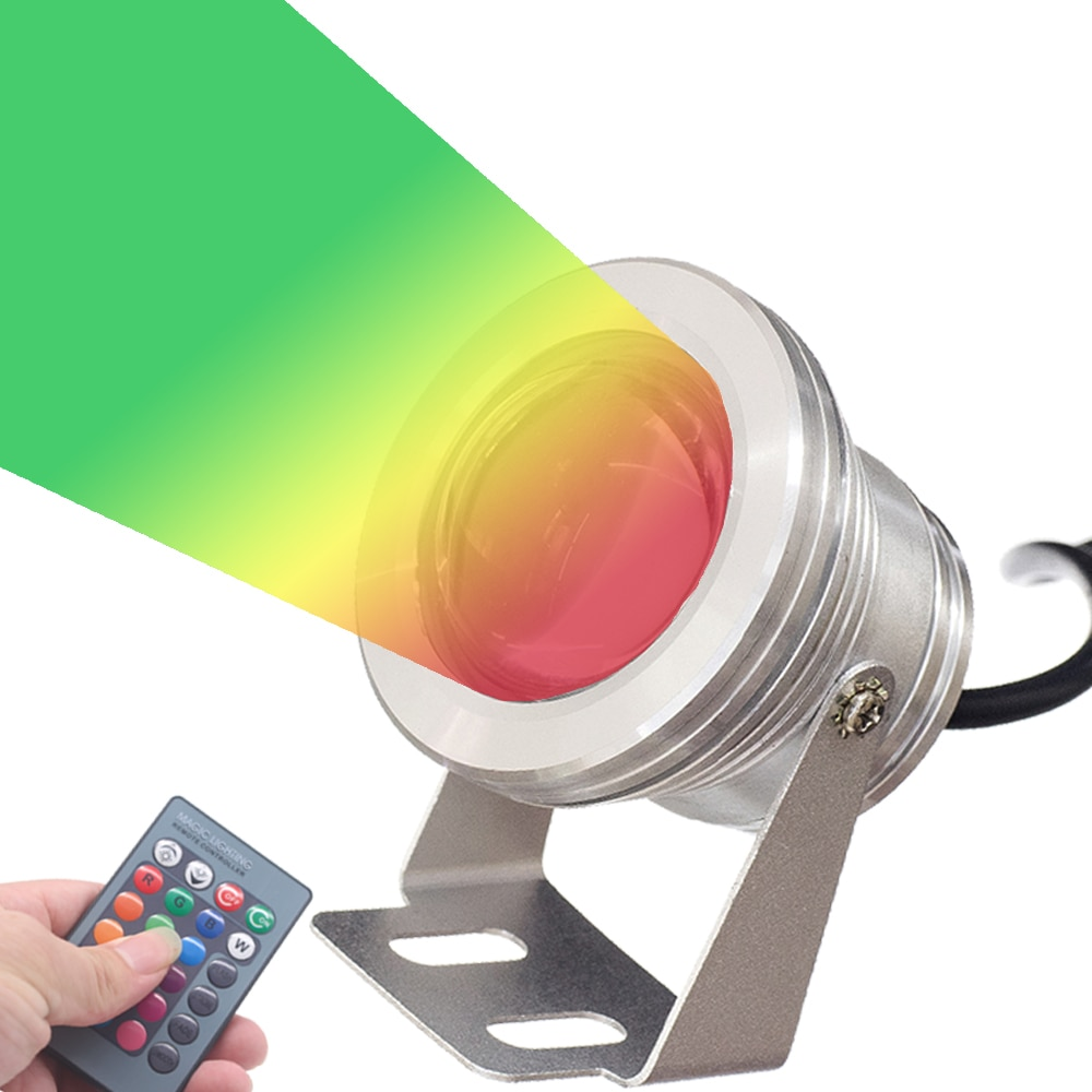Luz Led sumergible OSIDEN RGB 10W 12V luz Led subacuática 16 colores impermeable IP67 fuente poolamp iluminación lámpara de paisaje