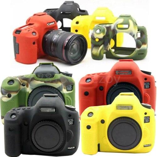 Silicone Armor Skin Case DSLR Camera Body Cover Protector Video Bag For Canon 5DSR 5D3 6D 5D4 800D 80D 1300D 650D 700D  6D2