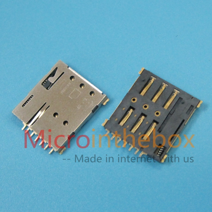 Nano SIM Connector productie push-lock type 7 Pins sim kaartlezer houder socket voor smart horloge wearable apparaat GPS tracker