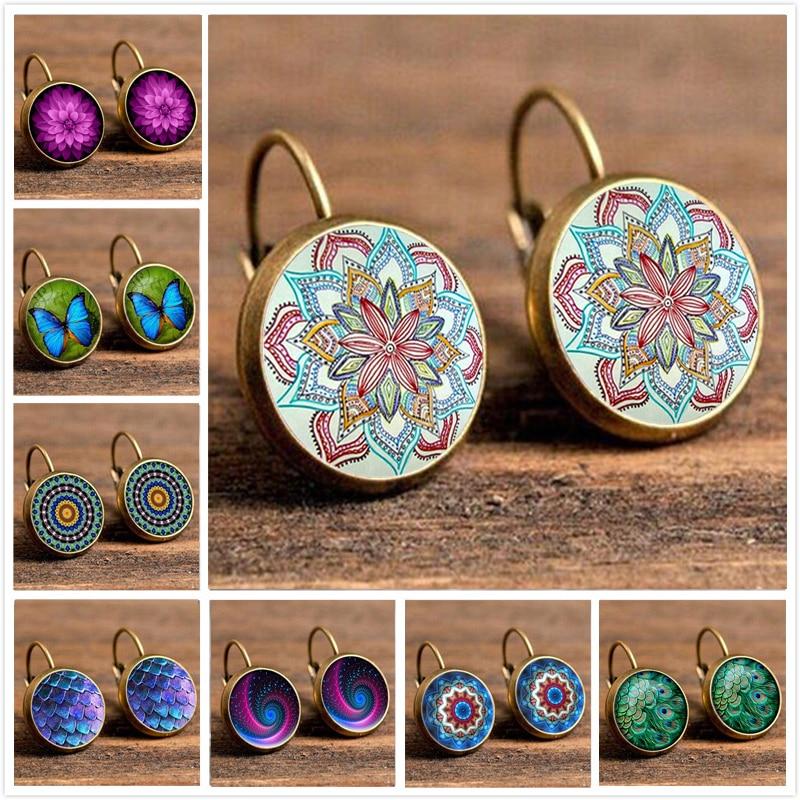Crazy Feng Fashion women Hoop Earrings Jewelry Ethnic Big Round Butterfly Earring Hoop Women Wedding Ohrringe Gift Bijoux Brinco