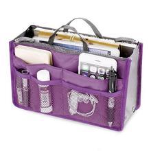 Haute qualité épaissir grande capacité cosmétique sac de rangement en Nylon voyage insertion organisateur sac à main sac à main sac de maquillage pour femmes femme