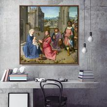 Toile dart décorative de maison   Toile imprimée, images murales pour salon, affiche toile imprimés, peintures carrées, Gerard danois, David