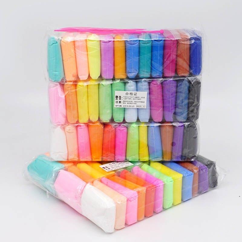 36 цветов глина супер легкая глина с 3 инструментами воздушная сушка свет Пластилин моделирование глина ручной работы Обучающие игрушки 5D голубая глина