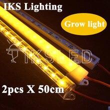 2 pièces * 50cm 5730 led bande rigide LED à spectre complet LED élèvent la lumière 18W LED élèvent lampoule de lampe pour le système hydroponique de plante de fleur DC12V