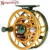 Sougayilang moulinet de pêche à la mouche poids léger 5/6WT moulinet à mouche grande tonnelle aluminium moulinet de pêche à la mouche changé à la main moulinet de pêche