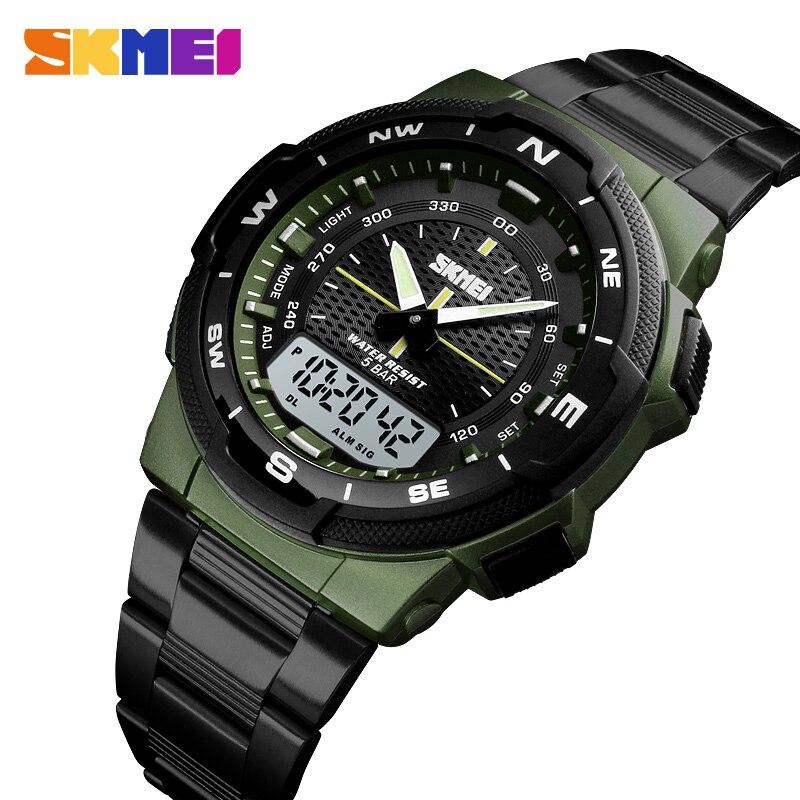 Männer Uhr Mode Sport Quarz Uhr Herren Uhren SKMEI Top Marke Luxus Voller Stahl Business Wasserdichte Uhr Relogio Masculino