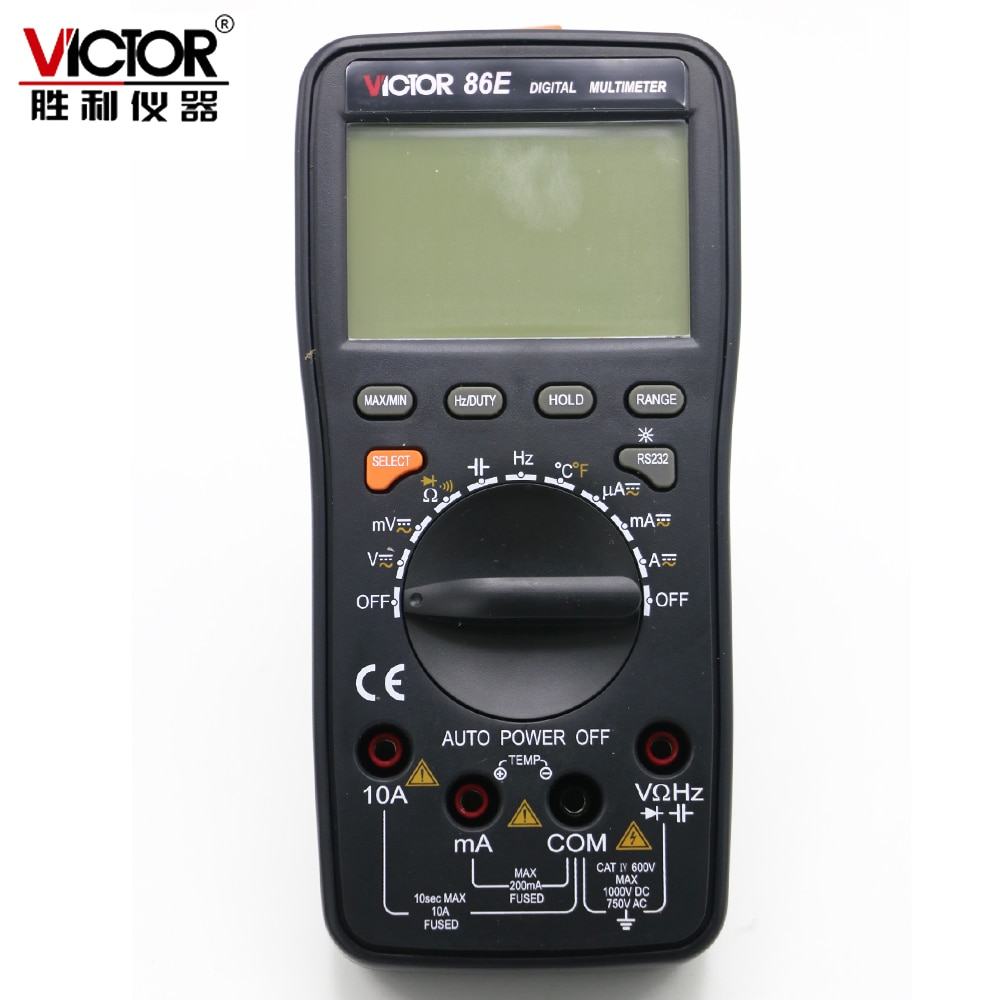 VICTOR VC86E 4 1/2 цифра точный мультиметр Частота емкостная температура с USB кабелем обновление VC97