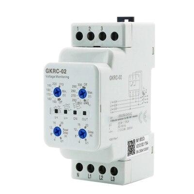 Tres Fase de sobretensión y subtensión GKRC-02F GKRC-02FA GKRC-02 GKRC-M2 Secuencia de fase protector 4 Alambre de cero de alambre