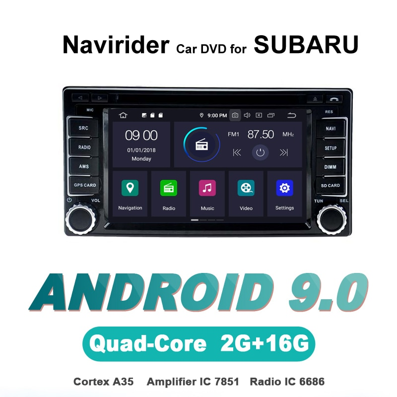 Navirider OS 9,0 reproductor Android para coche para SUBARU Forester Impreze estéreo coche radio gps navegación TDA7851 amplificador sistema de sonido