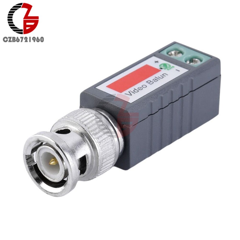 10 pares 20 piezas CCTV pasivo Video Balun UTP Transivers BNC CAT5 conectores de CABLE