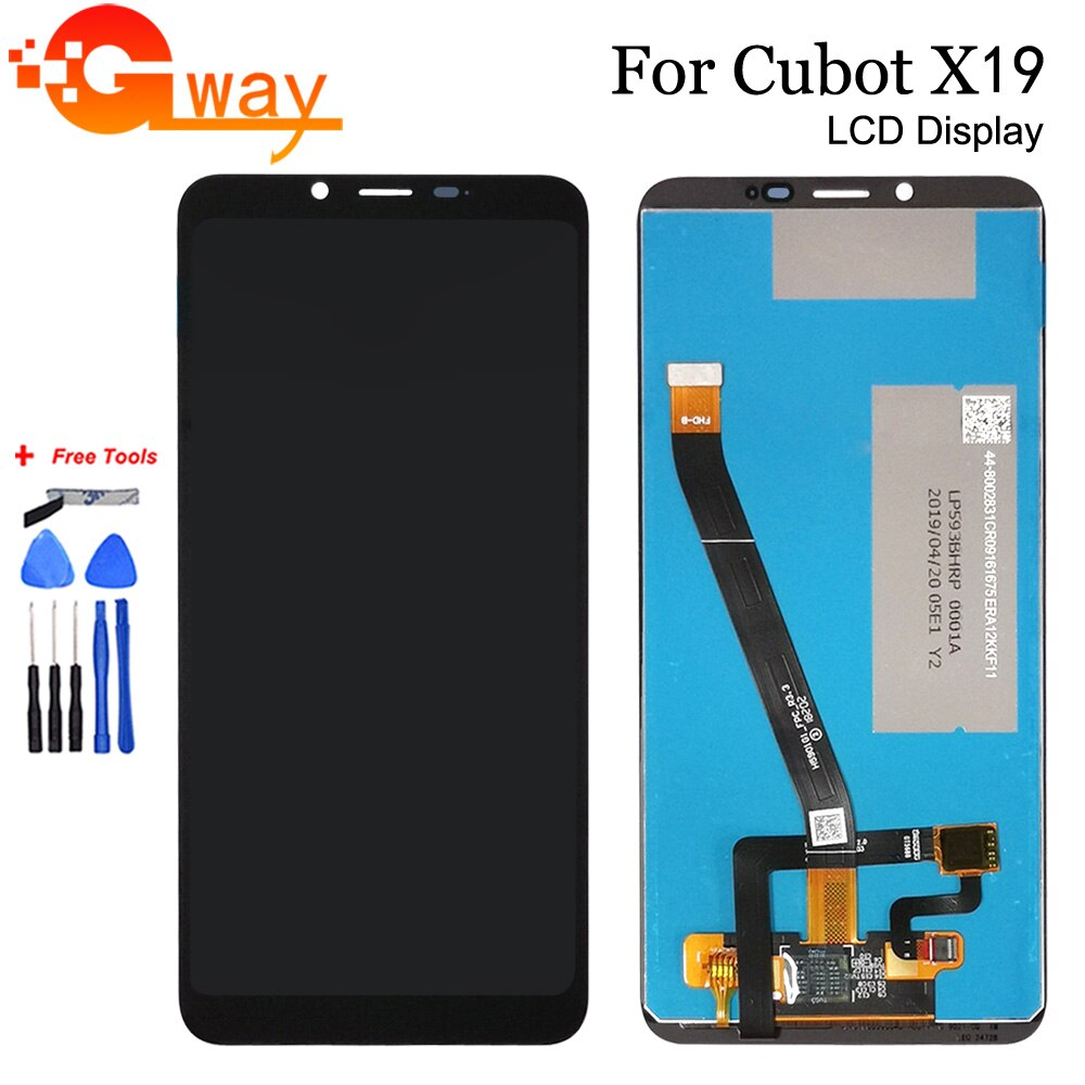5.93 inch 100% Tested For Cubot X19 LCD Display with Touch Screen Digitizer Assembly For Cubot X19 M