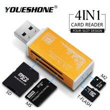 Lecteur de cartes SD multi-en 1, pour bâton de mémoire, Duo Pro, Micro SD,TF,M2,MMC,SDHC, MS, plusieurs couleurs