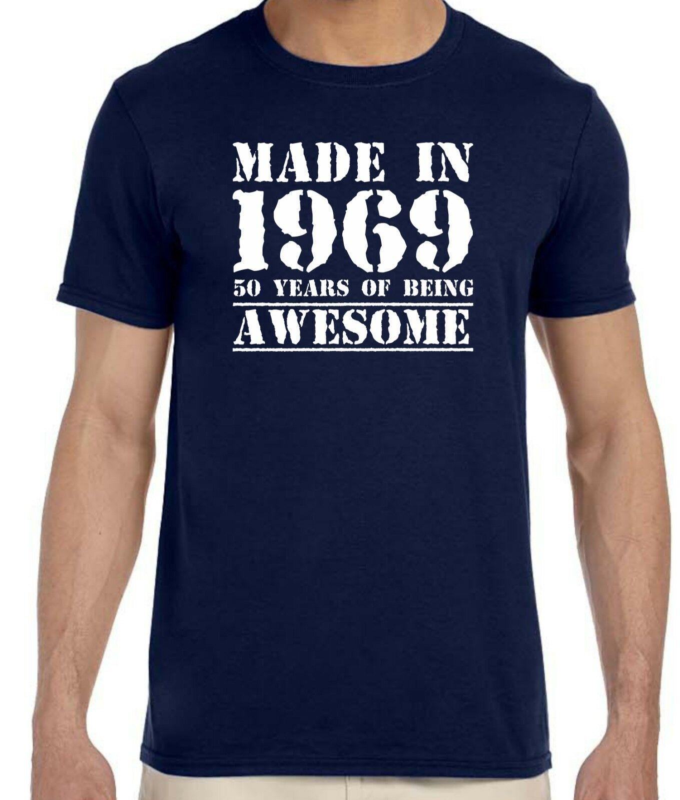 2019 engraçado feito em 1969, 50 anos de ser, impressionante-50th aniversário camiseta unisex