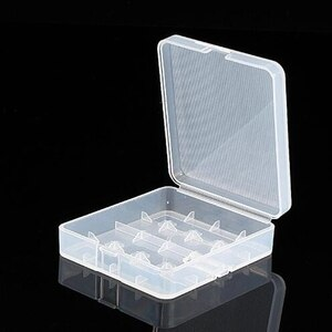 Battery Storage Boxes 4X18650 Battery Holder Case 18650 PP Battery Storage Box with Hook Holder Transparent Strong Hard case