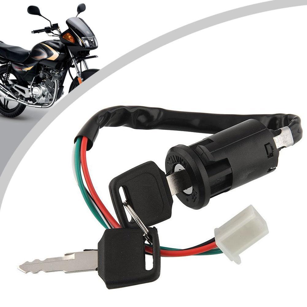 Motos de Ignição Interruptor de Bloqueio 4 Fios Bicicleta do Quadrilátero de ATV Go Kart Motor Motard Ciclomotor Buggy Scooters Para Yamaha Kawasaki Suzuki