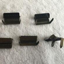 """(9 أجزاء/وحدة) 1 """"2.5 سنتيمتر البرونزية مشبك الحمالات تعديل أبازيم المواد الحرفية حزام مشبك طرف نهاية ل حزام العلامة حقيبة"""