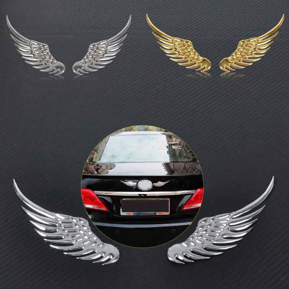 CITALL Legierung Metall Auto Dekoration 3D Engel Flügel Fenster Auto Körper Abzeichen Emblem Aufkleber Aufkleber für Ford Toyota Nissan VW kia