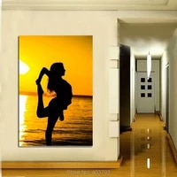 perfect modern oil painting handpainted on canvas a woman dancing by the sea no framed home decoration