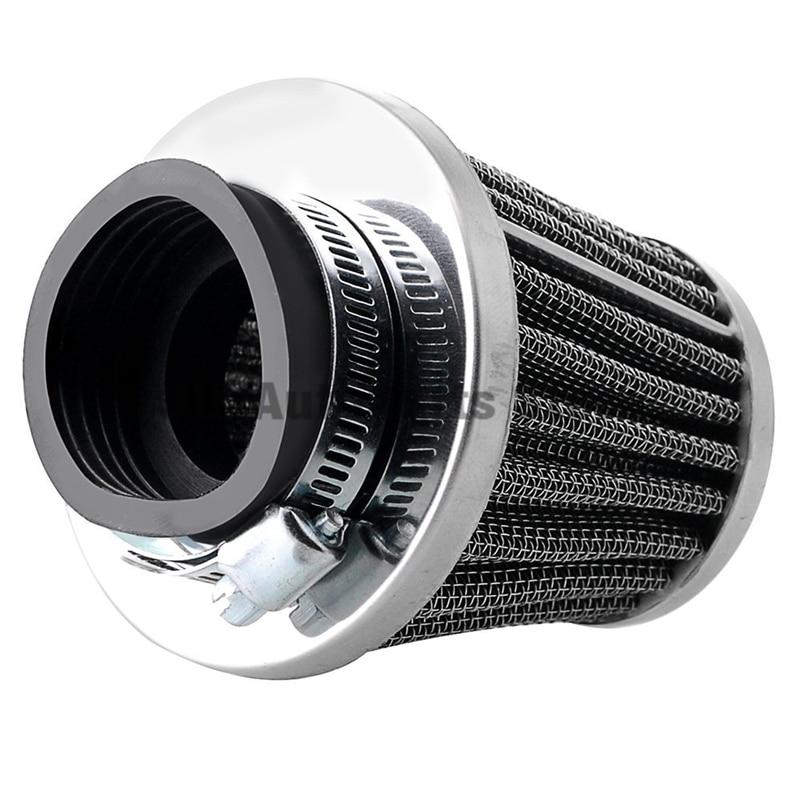 4 unids/lote 50mm filtros de aire Universal cónico cromo Pod limpieza seta cabeza limpiador para motocicleta tipo Cafe Racer