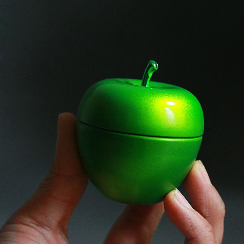 En forma de manzana Mini lata té Suger caramelo sellado caja de almacenamiento de café caja de Metal boda Favor organizador contenedor