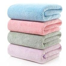 Microfibre tissu corail polaire serviette 140*70CM plus épais doux absorbant serviette de bain maison enveloppé poitrine adulte grandes serviettes
