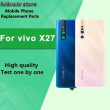 Nouveau couvercle arrière de la batterie en verre, boîtier de porte pour vivo X27 X27A couvercle de batterie vivoX27 X 27 6.39