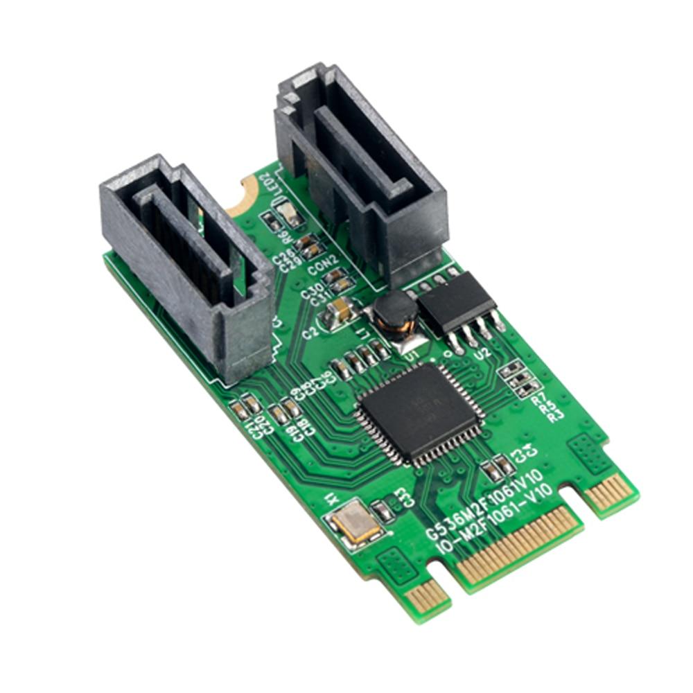 M.2 B + M ranura para llave a 2 puertos SATA 6G adaptador controlador de tarjeta soporte win 8 10
