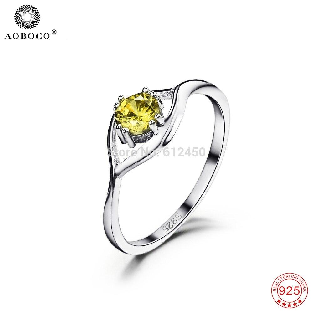 Joyería de cristal de CZ YFN 925 anillos de plata esterlina para mujer de alta calidad para las mujeres, anillo de compromiso boda GNJ0038
