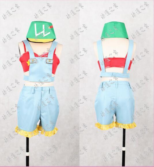 Anime lovelive! cosplay Rin Hoshizora cos Halloween traje do partido cosplay