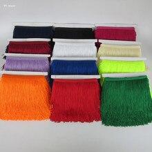 Yy-tesco-frange en dentelle 5/10 mètres   Frange large de 15cm, garniture de franges, garniture de franges, pour bricolage robe latine vêtements de scène, accessoires ruban en dentelle