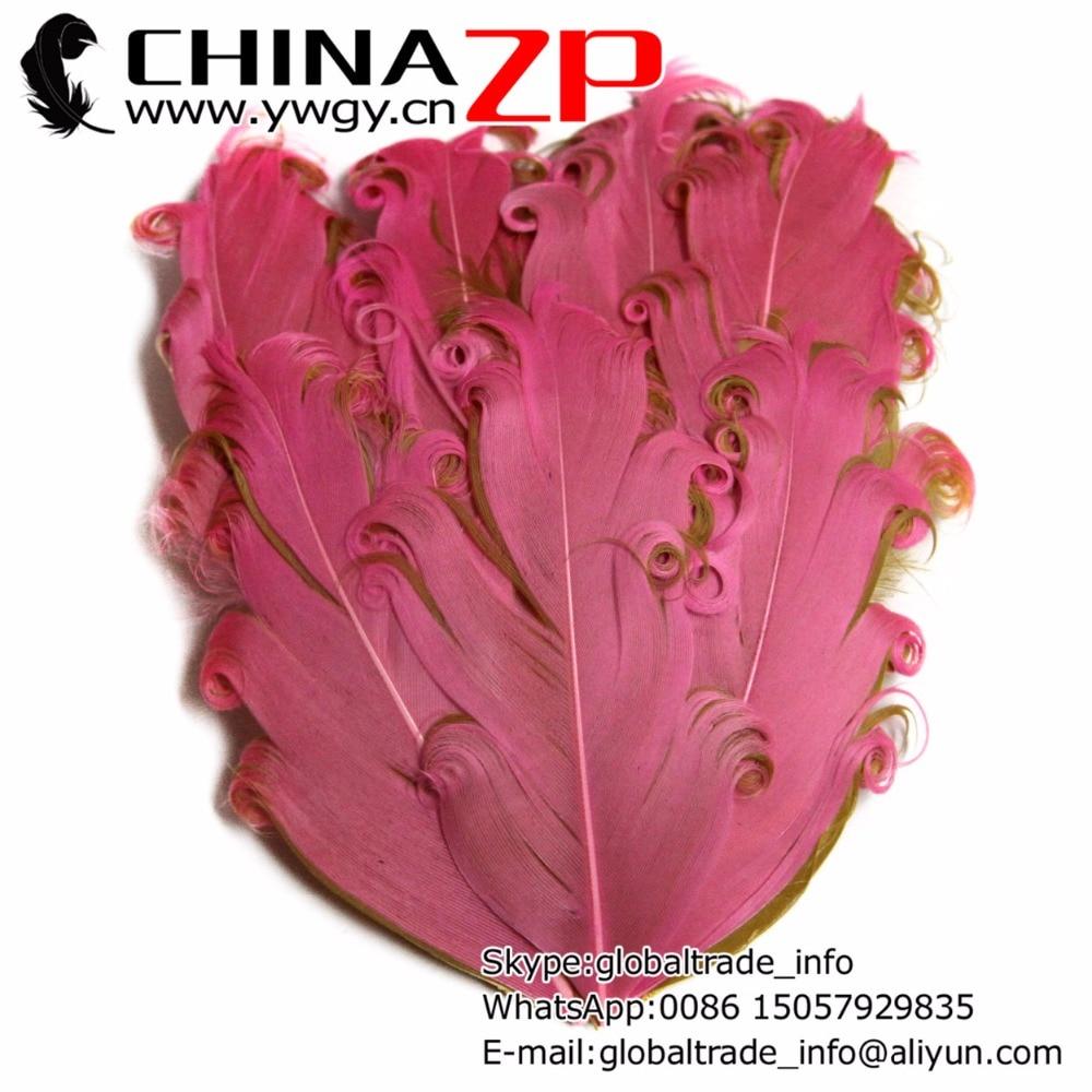 Proveedor líder de chinazp fábrica 50 unids/lote Pretty Bubblehum y Taup rizadas Nagorie Pad pluma de ganso tocados pieza de pelo