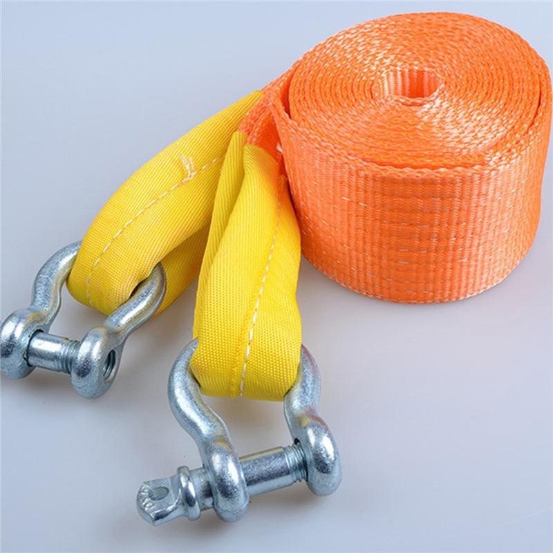 Cuerda de remolque de 6M y 12 toneladas de nailon de alta resistencia y guantes para emergencias de coches de alta resistencia