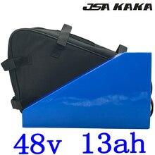 Free Customs Tax 48V lithium battery 48V 13AH Battery Pack 48v 13ah 15ah ebike battery for 48V 500W 750W 1000W motor+2A Charger