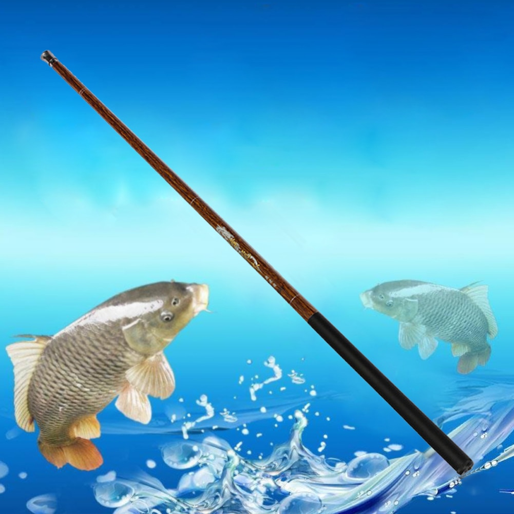 Ultralight Hard 3.8M/4.4M/5M/6M/6.8M Meters Stream Hand Pole Carbon Fiber Casting Telescopic Fishing Rods Fish Tackle