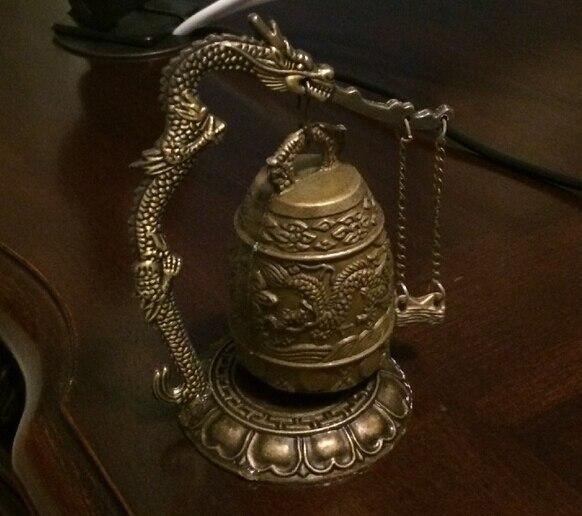 Livraison Gratuite Cloche bouddhiste en bronze de chant de dragon du Thibet