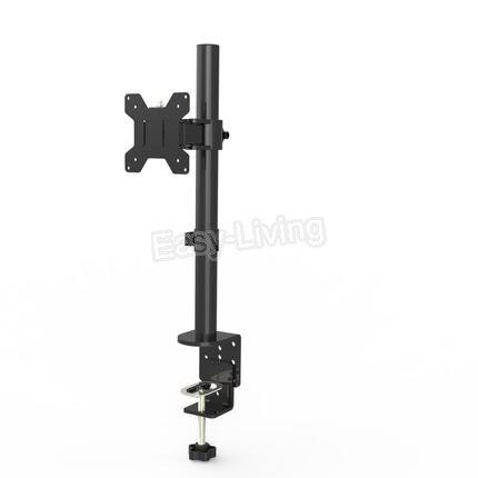 "Sujeción de movimiento completo para escritorio, soporte para Monitor individual de 360 grados, brazo para montaje de Monitor LCD LED de 10 ""-27"", carga de 9,9 kg por cabezal"