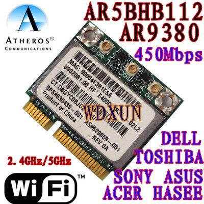 Atheros AR9380 AR5BHB112 tamaño medio Minipci-express Mini tarjeta 450 Mbps SPS: 630435-001