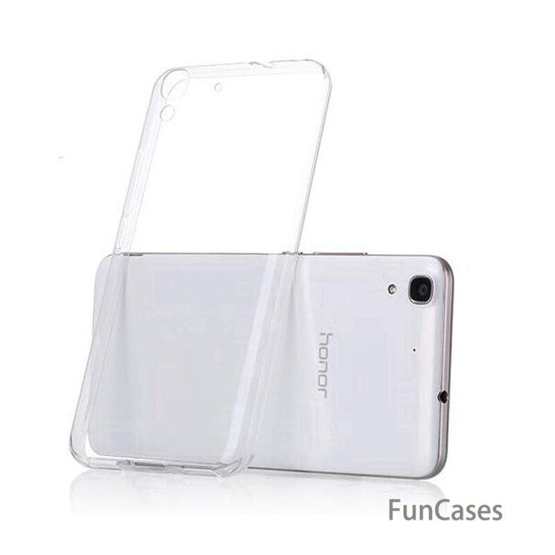 Ultra delgada suave TPU funda para Huawei Honor 4A 4C 7 Lite 5C 8 V8 6X V9 6A 9 7X V10 claro del teléfono shell
