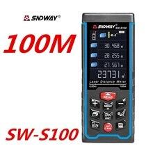 Telémetro láser medidor de distancia telémetro buscador recargable USB 100M 70M 50M medición Ángel multidirección nivel electrónico burbuja