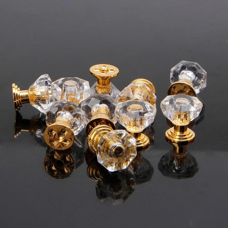 10 шт./компл. ручка для шкафа с кристаллами и кристаллами